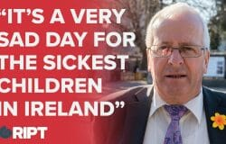 """It's a very sad day for the sickest children in Ireland"" - Mattie McGrath on the children's hospital"