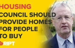 Report: Liam Coughlan of Aontú says the council should be helping to provide homes for people to buy
