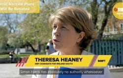 Theresa Heaney says she wants to represent families who have concerns with certain vaccines