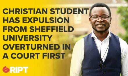 Christian student has expulsion from Sheffield University overturned in court