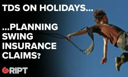 TDs on Holiday…Planning Swing Insurance Claims