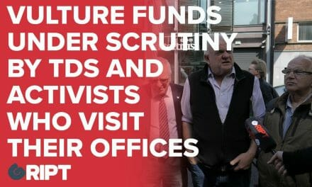 Vulture Funds under scrutiny by TDs and Activists who visit their office to monitor legal compliance