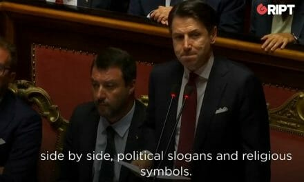 WATCH: Salvini Defiantly Kisses Rosary Despite Criticism from Italian PM