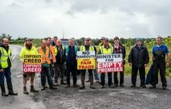 Beef Farmers Protest At Factories