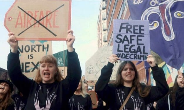 """""""We need abortions"""" – pro choice protestors sing catchy ditty on road to Belfast"""