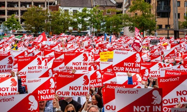 PHOTOS: Pro-life rally in Belfast draws such huge crowd that police have to reroute march