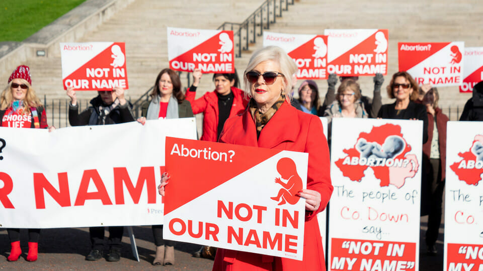 """It's not over"": North of Ireland Party leader and pro-lifers vow to fight on against abortion law"