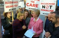 Carers protest: 'government is exploiting us and we are in crisis'