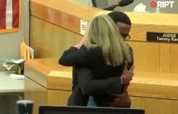 """""""Give your life to Christ."""" Brother of murder victim forgives and hugs ex-cop"""