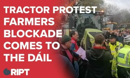Farmers Bring Tractor Protest To Dublin