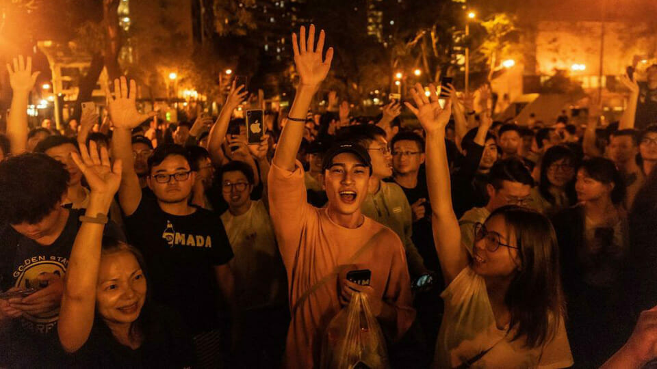 Landslide victory for pro-democracy candidates in Hong Kong local elections