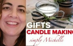 Michelle's candle making session on HomeGrown Home; beautiful, simple, unique
