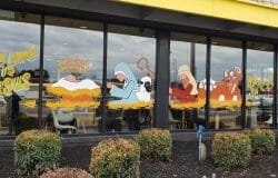 Nativity scenes on McDonald's windows go viral