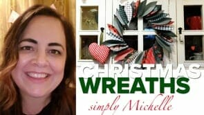 WATCH Michelle make beautiful craft Christmas wreaths