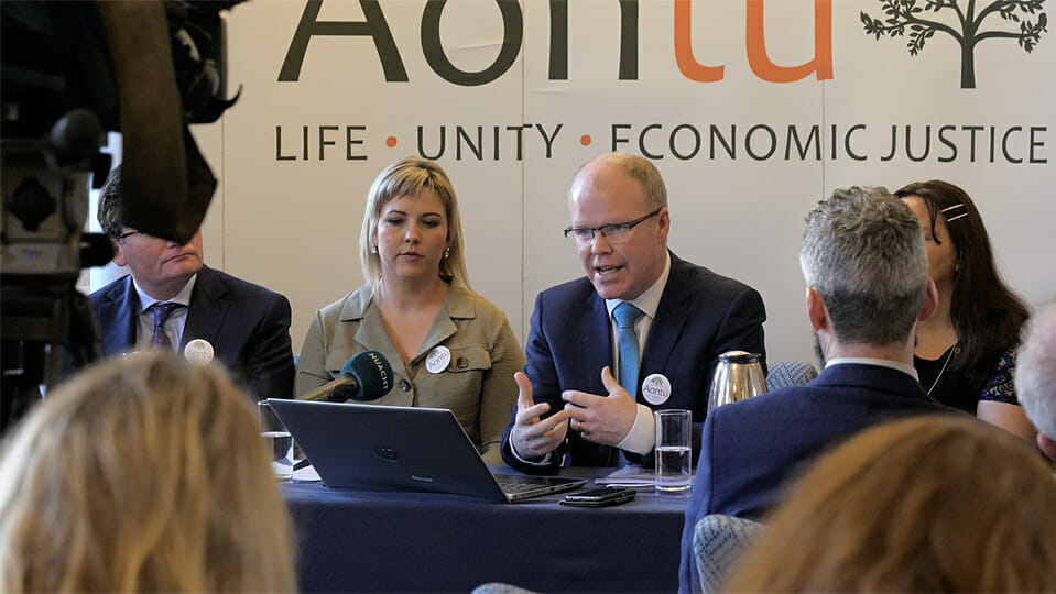 """""""LOCK OUT"""": Aontú only national party excluded from RTÉ debate"""