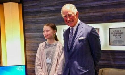 Prince Charles used three private jets & helicopter, flying 16,000 miles, before posing with Greta