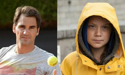 Greta takes aim at Roger Federer as tennis star responds to criticism