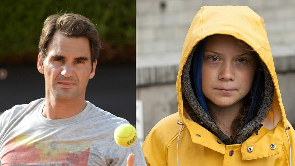 Greta takes aim at Roger Federer as tennis star responds to criticism