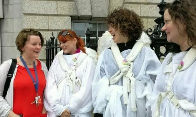 Accusations of hypocrisy as doctor pictured with abortion campaigners at hospital demonstration