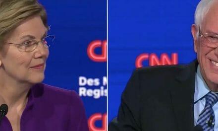 WATCH: Sanders and Warren in merciless debate duel as Democratic commentators panic