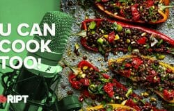 You Can Cook Too 23 - Roasted Romano peppers with puy lentil