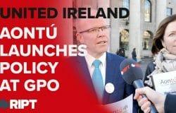 Peadar Tóibín outlined Aontú's 'United Ireland Policy' at the GPO today