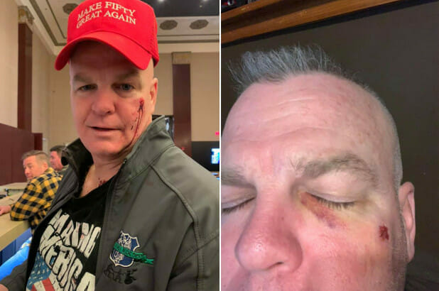 Ex-cop punched by woman at his birthday party after red cap mistaken for MAGA hat