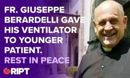 Fr. Guiseppe had Covid-19, but gave his ventilator to a younger patient
