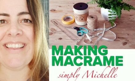 HomeGrown Home: Michelle shows us how to make Macramé holders for your favourite plants