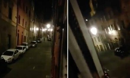 WATCH: Haunting music on deserted Italian street as people sing from their windows