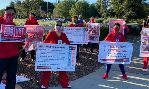"""Like sheep going to slaughter"": NY Nurses protest lack of protective clothing in #Covid19 fight"