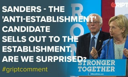 Sanders – The 'anti-establishment' candidate sells out to the establishment. Are we surprised?