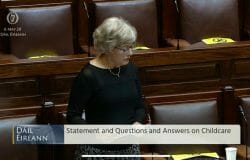 Katherine Zappone, kicked out of the Dail by voters, took Dail questions yesterday