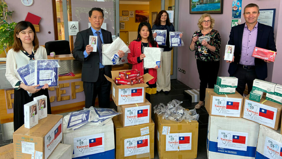 Taiwanese Community continues donations of PPE with donation to Cheshire Limerick