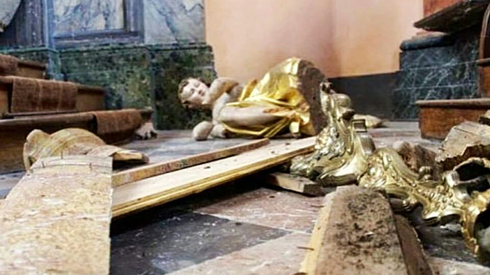 Arson in Nantes Cathedral part of a broader attack on religion