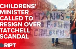 """""""Hands off our kids"""" - up to 1000 protesters outside the Dáil call for the resignation of the new Childrens' Minister"""