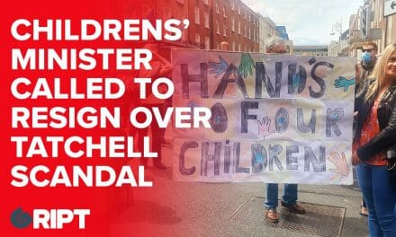 """""""Hands off our kids"""" – up to 1000 protesters outside the Dáil call for the resignation of the new Childrens' Minister"""