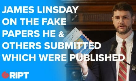 James Linsday on the fake papers he & others submitted which were published